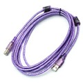 """Кабель USB, """"hp"""", 3м Cable Type A-B, USB2.0, прозрачный, с ферритовым кольцом"""